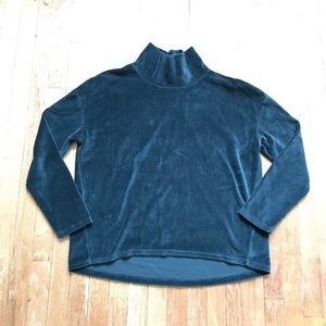 Banana Republic Green Fuzzy Turtleneck Sweater